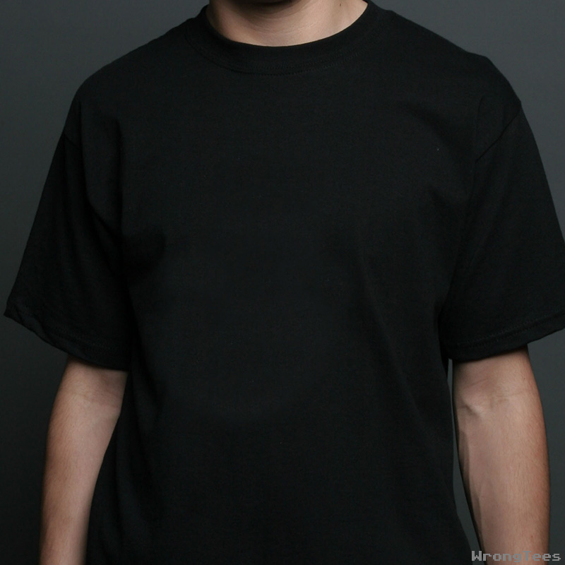 Blank black t shirt back